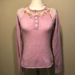 Free People Floral Sweater Size M
